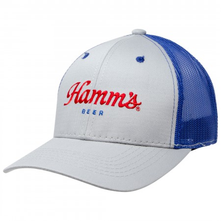 Hamm's Grey And Blue Trucker Hat
