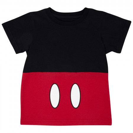 Mickey Mouse Red And Black Toddler Costume T-Shirt