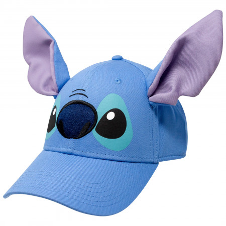 Lilo And Stitch Character Adjustable Blue Disney Strapback Hat