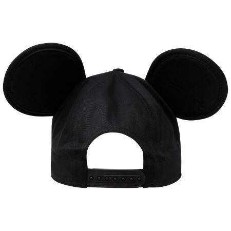 Mickey Mouse Ears Classic Black And Red Snapback Hat