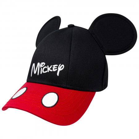 Mickey Mouse Classic Black And Red Ears Snapback Hat