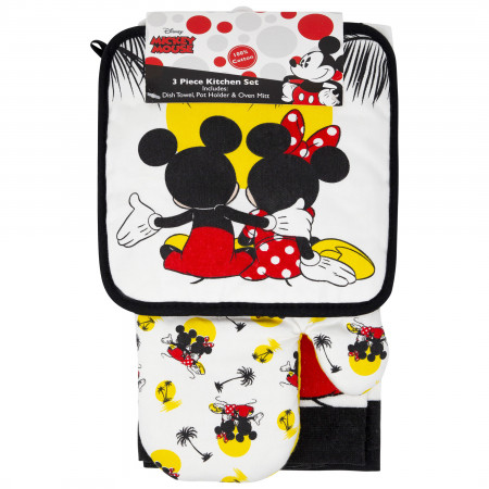 Mickey And Minnie Mouse Kitchen Towel 3-Piece Set