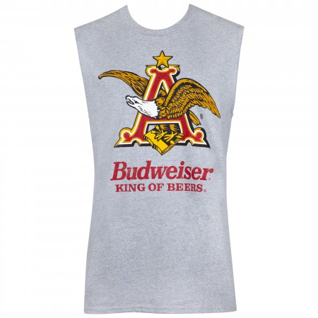 Budweiser Grey Anheuser Logo Sleeveless Tank Top