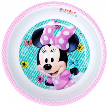 Minnie Mouse White And Pink Plastic Bowl