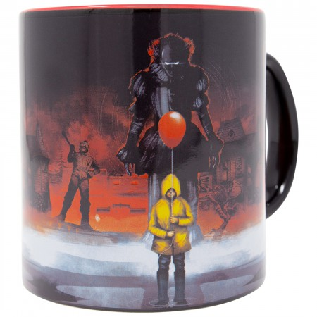 IT 20 Ounce Black And Red Coffee Mug