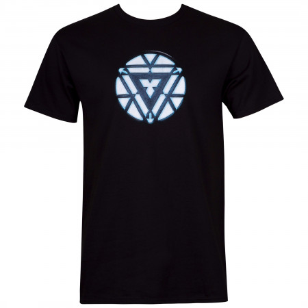 Iron Man Arc Reactor Men's Black T-Shirt