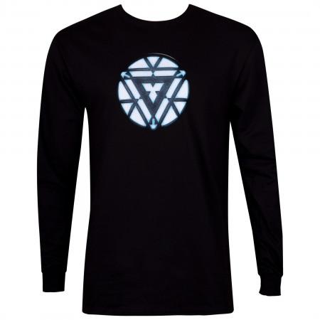 Iron Man Arc Reactor Men's Black Long Sleeve Shirt