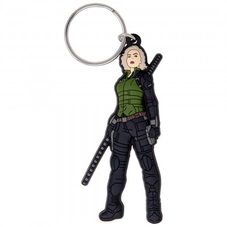 Black Widow Soft Touch Keychain