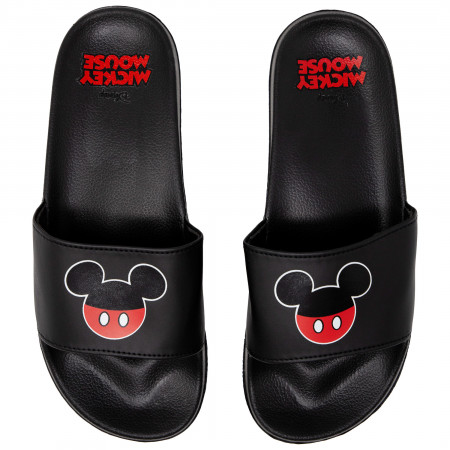 Mickey Mouse Black And Red Slides Sandals