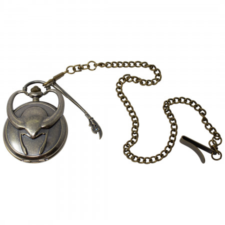 Loki God of Mischief Golden Pocketwatch