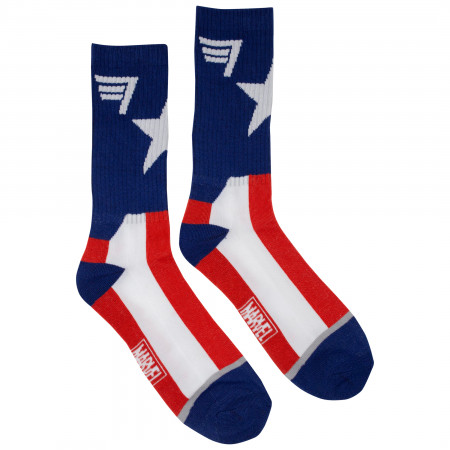 Captain America Suit-Up Athletic Socks