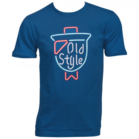 Old Style Neon Sign On Tap Logo T-Shirt
