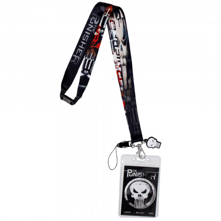 The Punisher Epic Lanyard with Card Holder and Charm