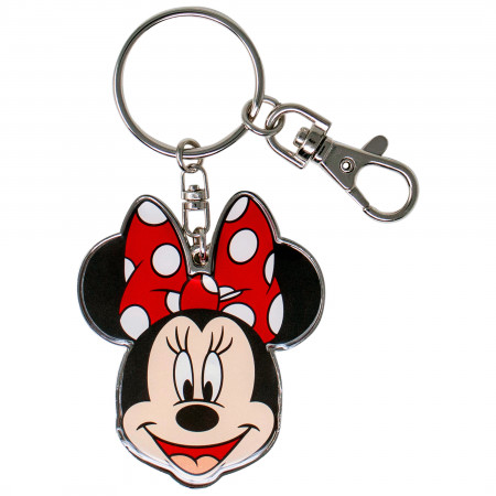Disney Minnie Mouse Head Pewter Keychain