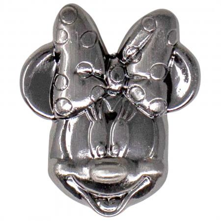 Disney Minnie Mouse Head Pewter Lapel Pin