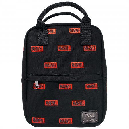 Marvel Logo All Over Print Canvas Mini Backpack