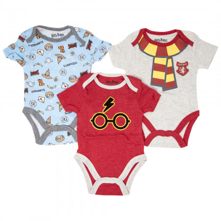 Harry Potter 3-Pack Infant Bodysuit Set