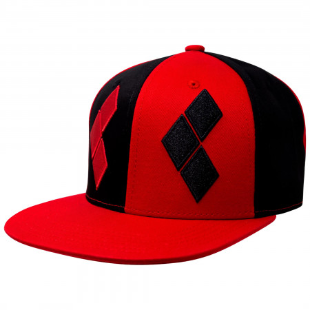 Harley Quinn Diamonds Symbol Adjustable Snapback Hat