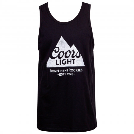 Coors Light Beer Mountain Logo Men's Black Tank Top