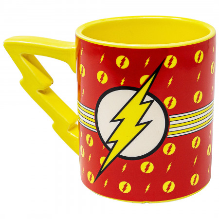 Flash Stripes Logo 20 oz Mug with Lightning Handle