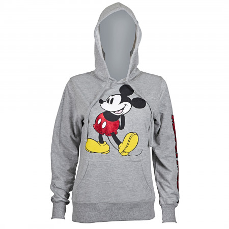 Mickey Mouse Women's Red Foil Hoodie