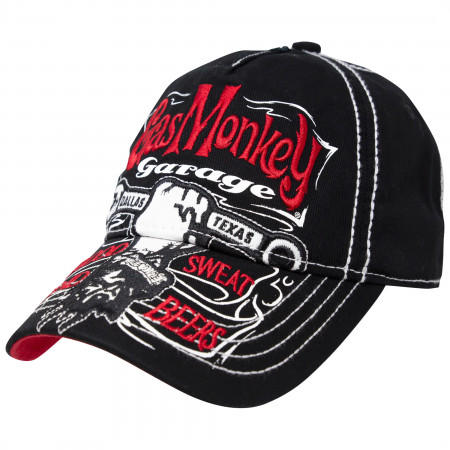 Gas Monkey Garage Red And Black Adjustable Strapback Hat