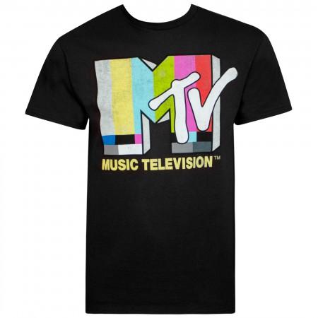 MTV Logo Black Tee Shirt