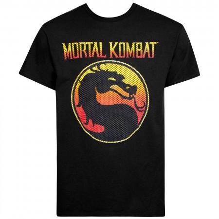 Mortal Kombat Black Classic Logo Men's T-Shirt
