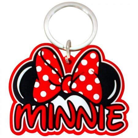 Minnie Mouse Ears Laser Cut Keychain