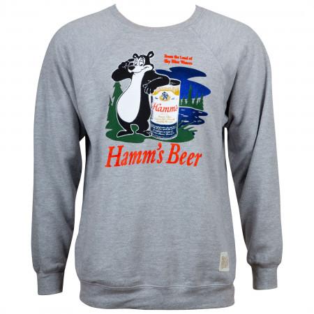 Hamm's Beer Retro Bear Logo Men's Heather Grey Sweatshirt