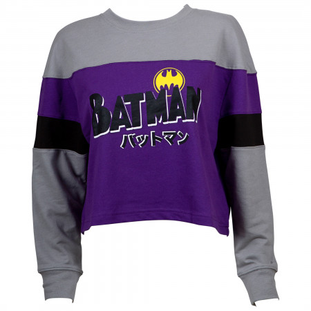 Batman Juniors Long Sleeve Crop Top
