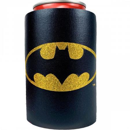 Batman Logo Metallic Finish Can Cooler