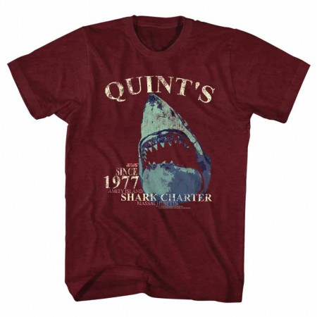 Jaws Quints Charter Red TShirt