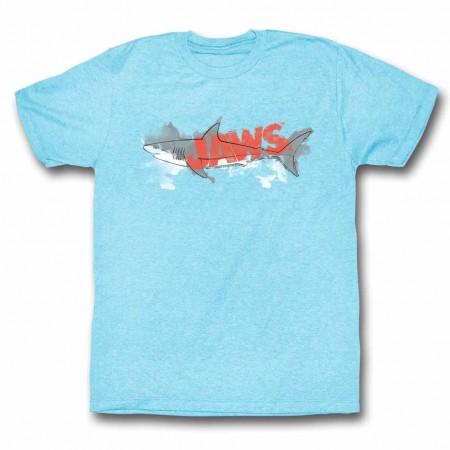 Jaws Watermark Blue TShirt