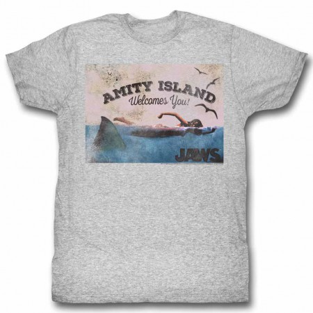 Jaws Welcome Gray TShirt