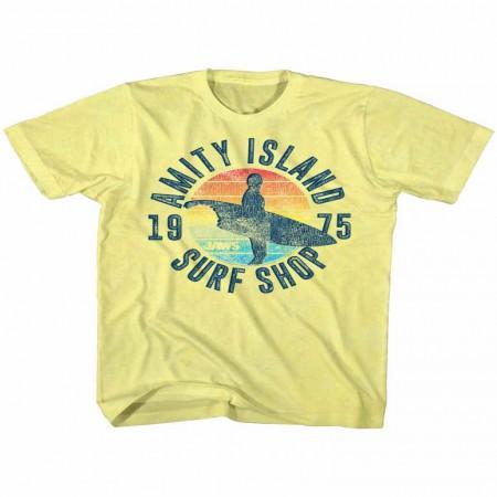 Jaws Surfshop Yellow TShirt