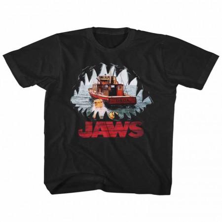Jaws Mouth Pov Black TShirt