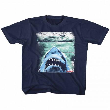 Jaws Folded Poster Blue TShirt