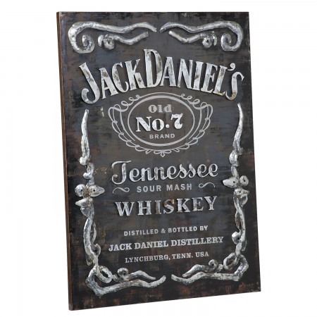 Jack Daniel's Bottle Label Metal Sign