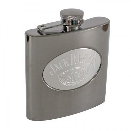Jack Daniels Gunmetal 6 OZ Flask