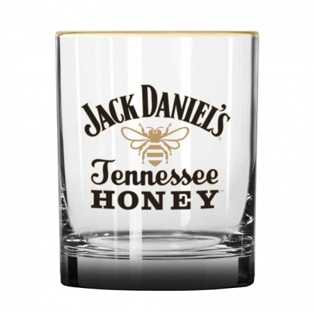 Jack Daniels Clear Tennessee Honey Rocks Glass