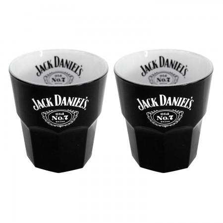 Jack Daniels Black Set Of 2 Old Fashion Glasses