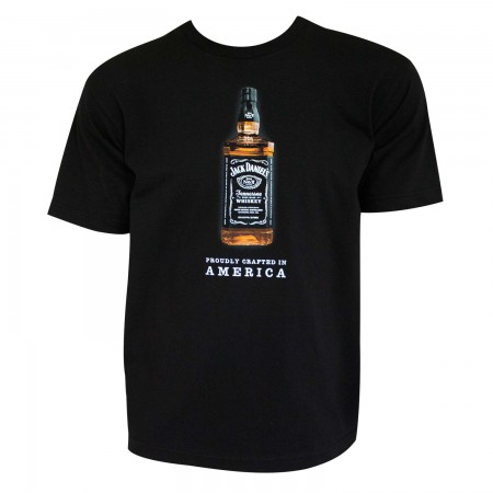 Jack Daniels Men's Black Crafted In America T-Shirt
