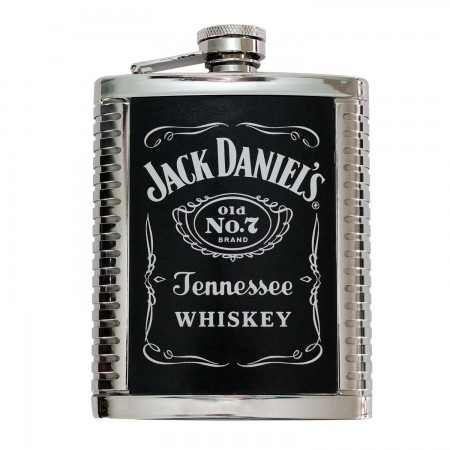 Jack Daniels 6 OZ Ribbed Flask