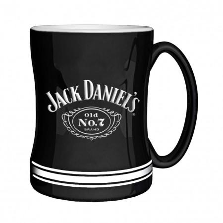Jack Daniels Black No. 7 Sculpted Relief Mug