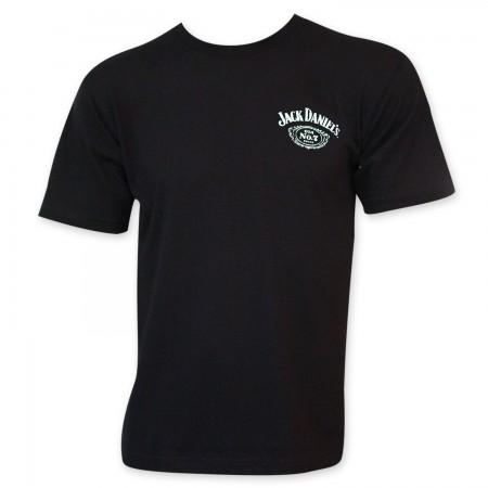 Jack Daniels Sour Mash Whiskey Men's Black Tee Shirt