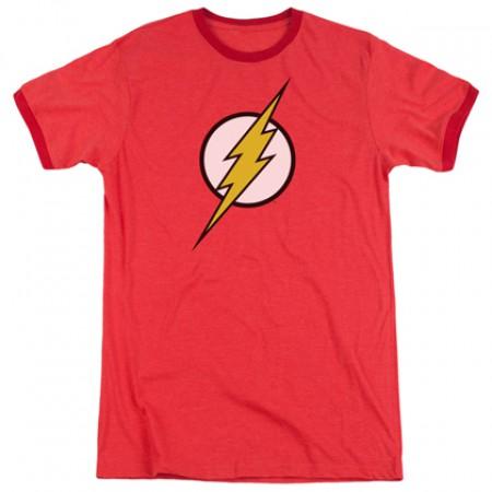 The Flash Classic Logo Ringer Tshirt