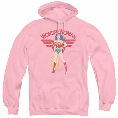Wonder Woman Pose Women's Pink Hoodie