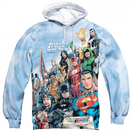 Justice League All Over Front and Back Print Hoodie