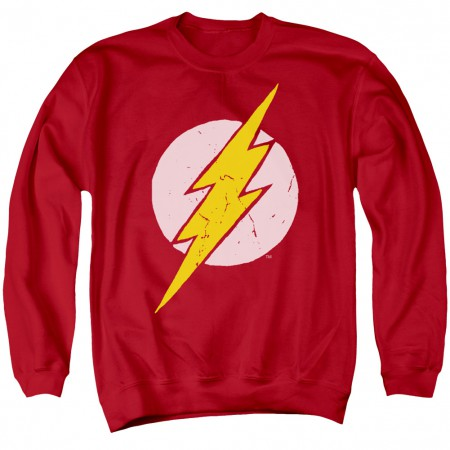 The Flash Distressed Logo Crewneck Sweatshirt